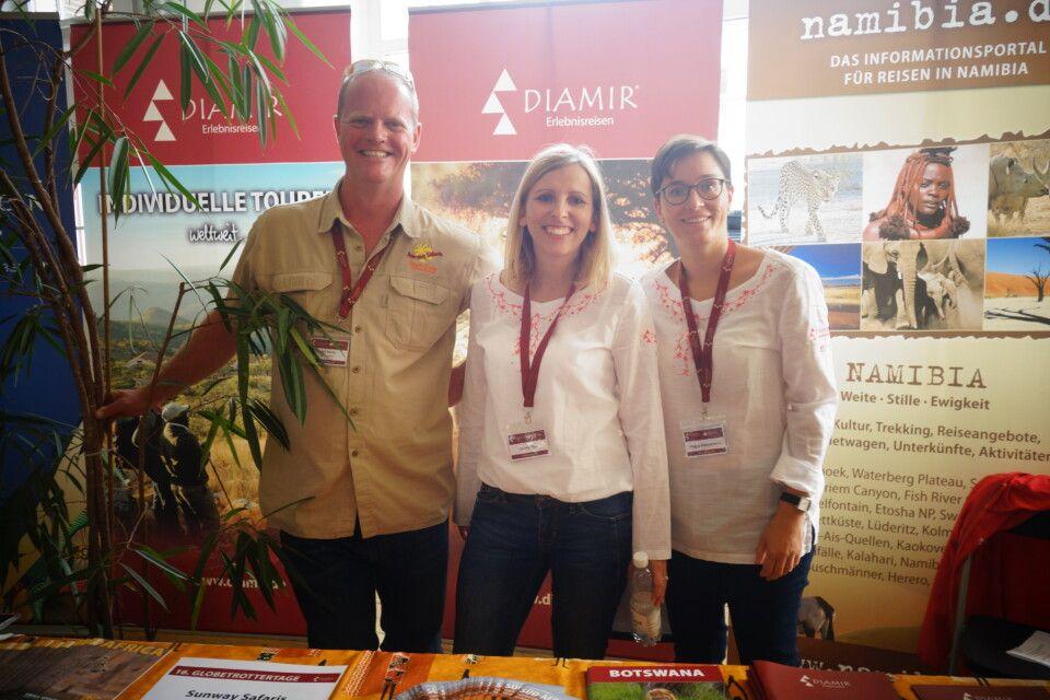 Safari-Spezialisten am Afrika-Stand