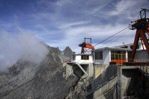 Bergstation der Teleferico Bergbahn in Merida, Venezuela