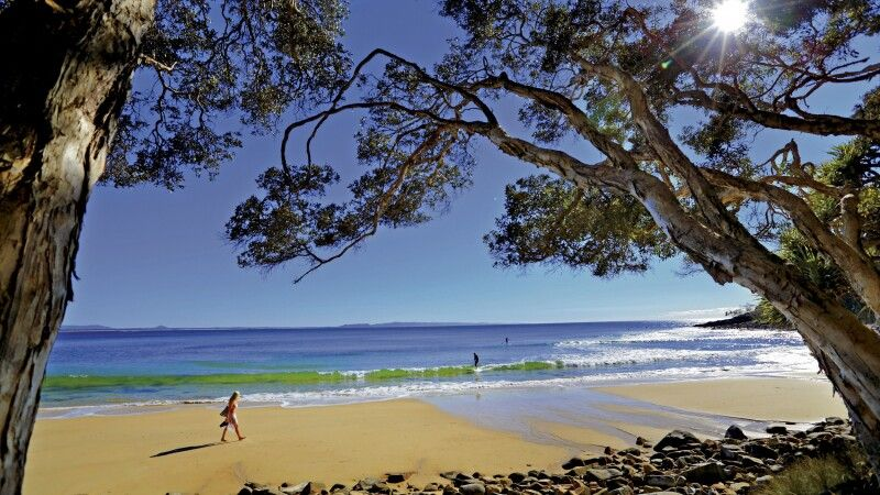 Australien QLD Queensland Sunshine Coast Noosa Tea Tree Bay Strand Meer Landschaft © Diamir