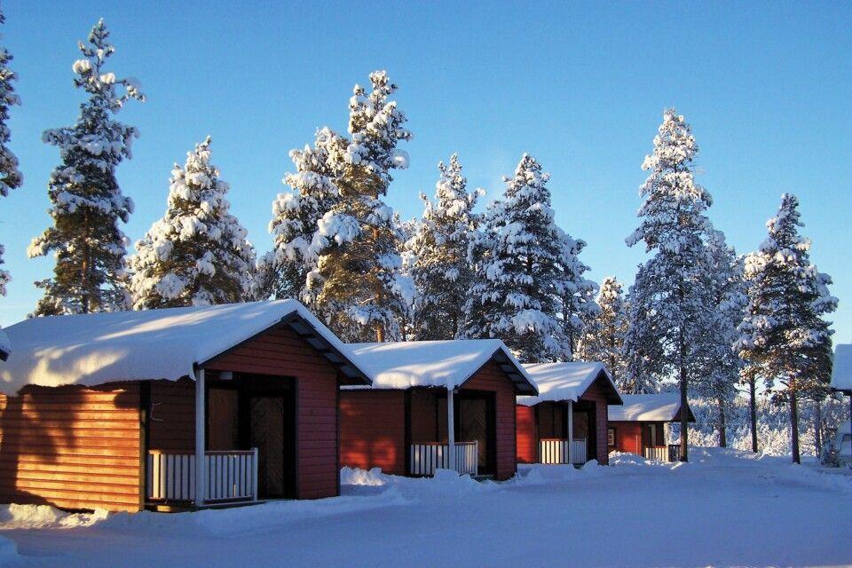 Unterkunft in gemütlichen Blockhütten