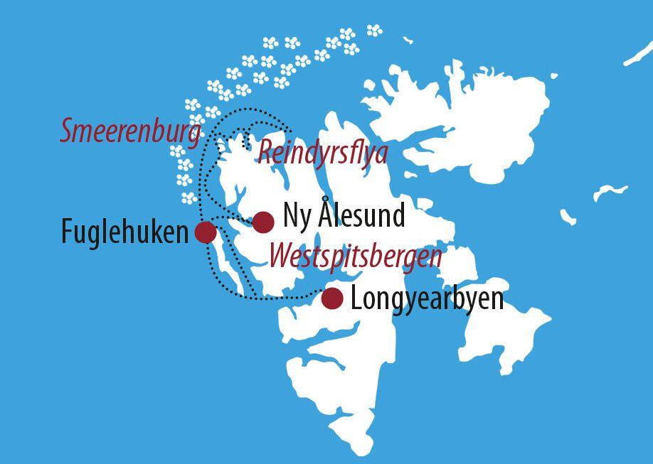 Karte zur Reise