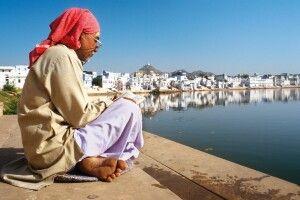Am heiligen See in Pushkar