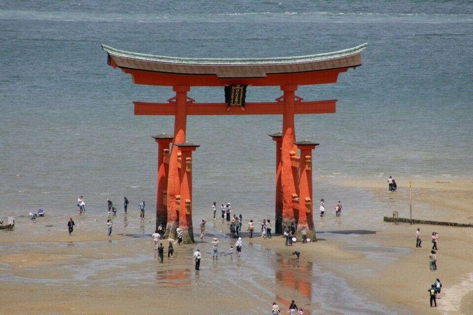 Tori bei der Insel  Miyashima