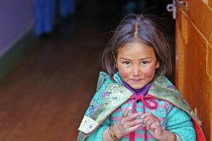 Kinderaugen in Ladakh