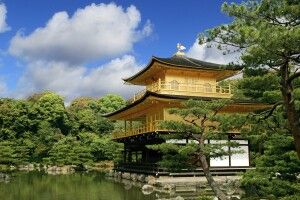 Der Goldene Pavilion in Kyoto