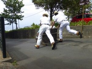 Korbschlittenfahrer in Funchal