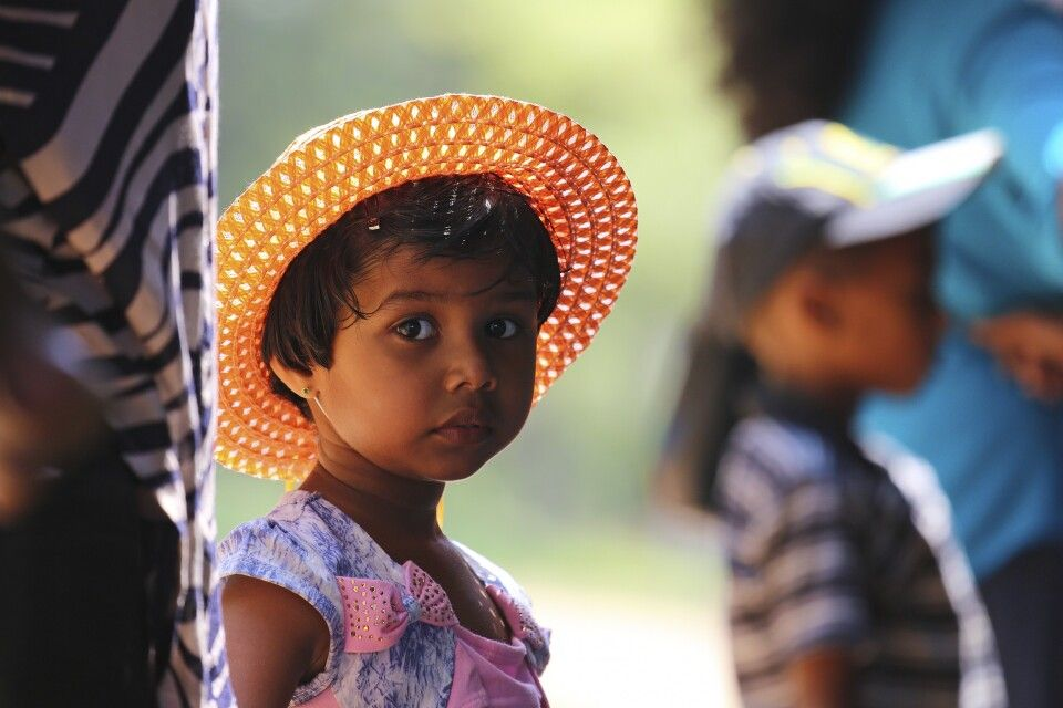 Kinderaugen in Sri Lanka