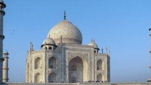 Marmormausoleum Taj Mahal (UNESCO) in Agra