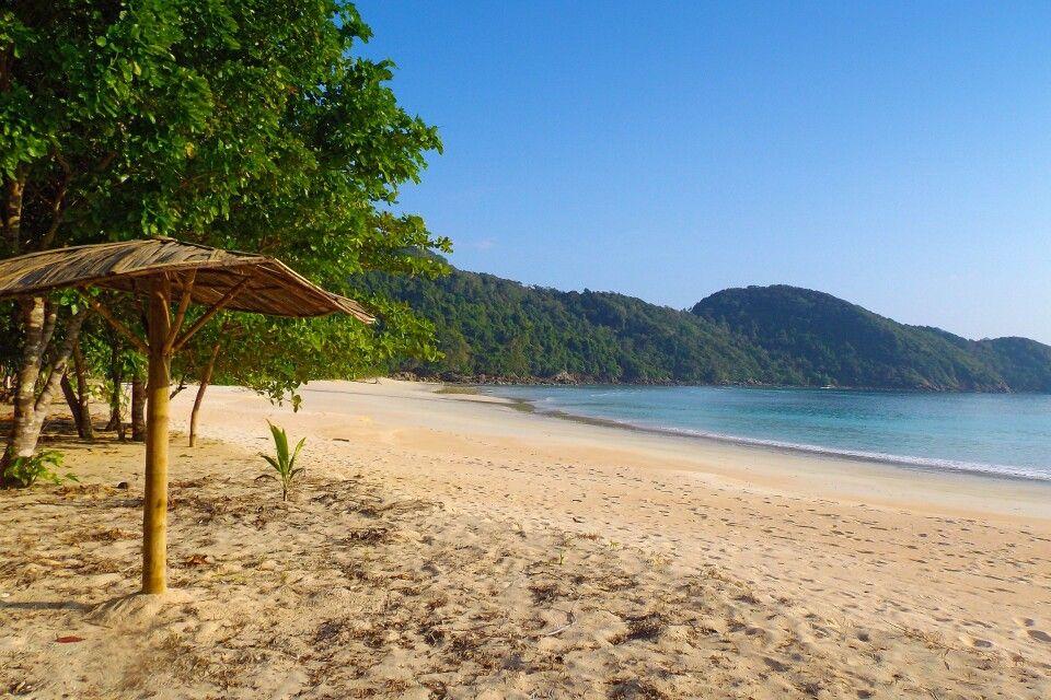 am Strand einer der vielen Inseln des Mergui Archipels