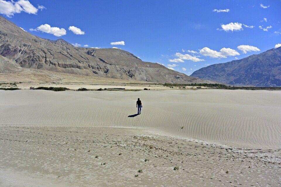 Nubra Valley, Sandünen zwischen Tirit und Lughzhun am Nubra-Fluss