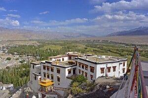 Kloster Spituk, Blick ins Industal nach Südosten