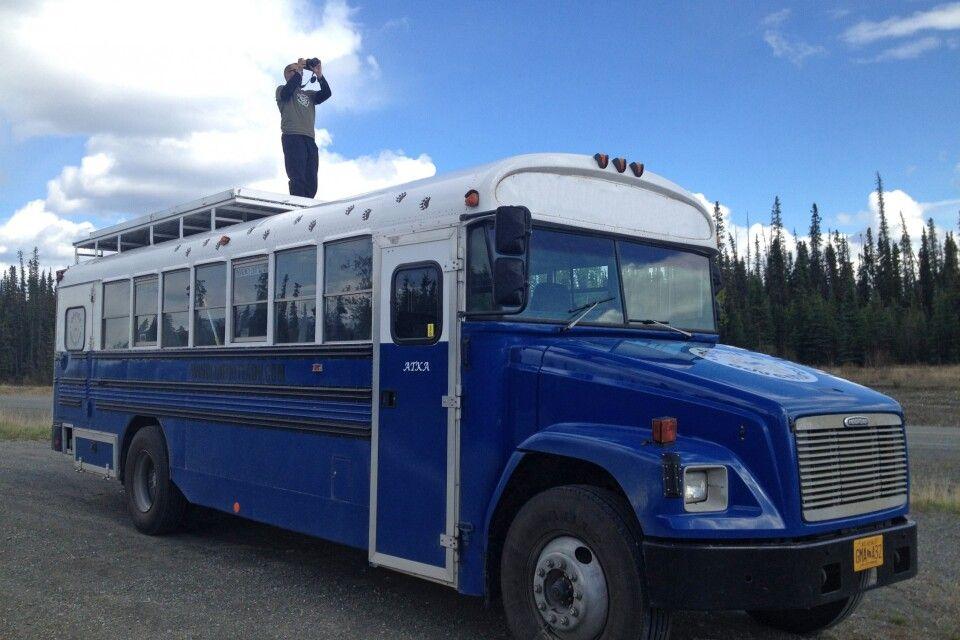 Aussichtsplattform auf dem Bus