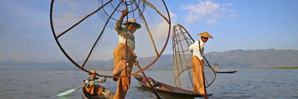 Einbeinruderer in Myanmar – die Akrobaten vom Inle-See