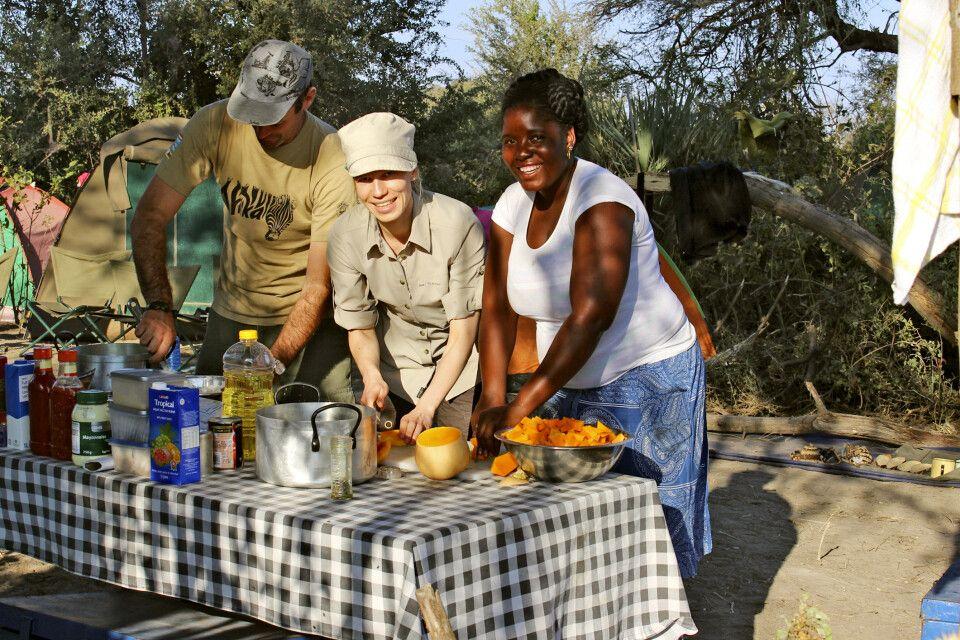 gemeinsame Mahlzeitenzubereitung