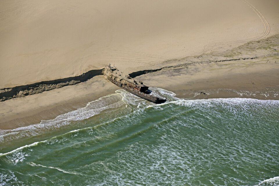 Wrack an der Skelettküste