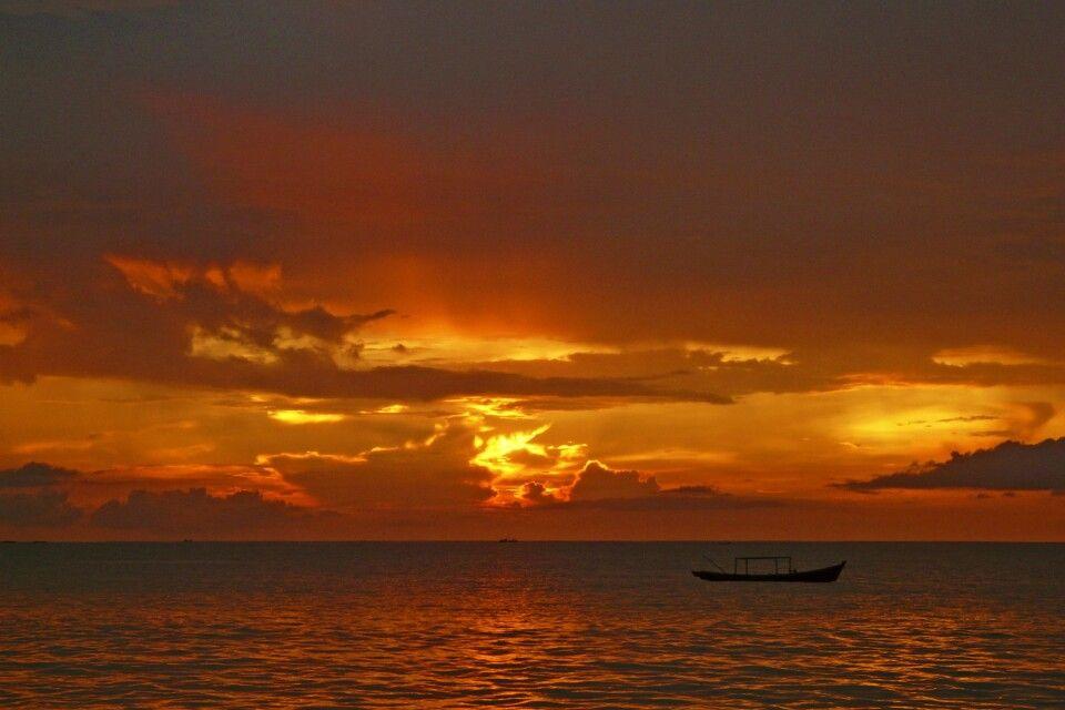 Sonnenuntergang am Strand von Ngapali