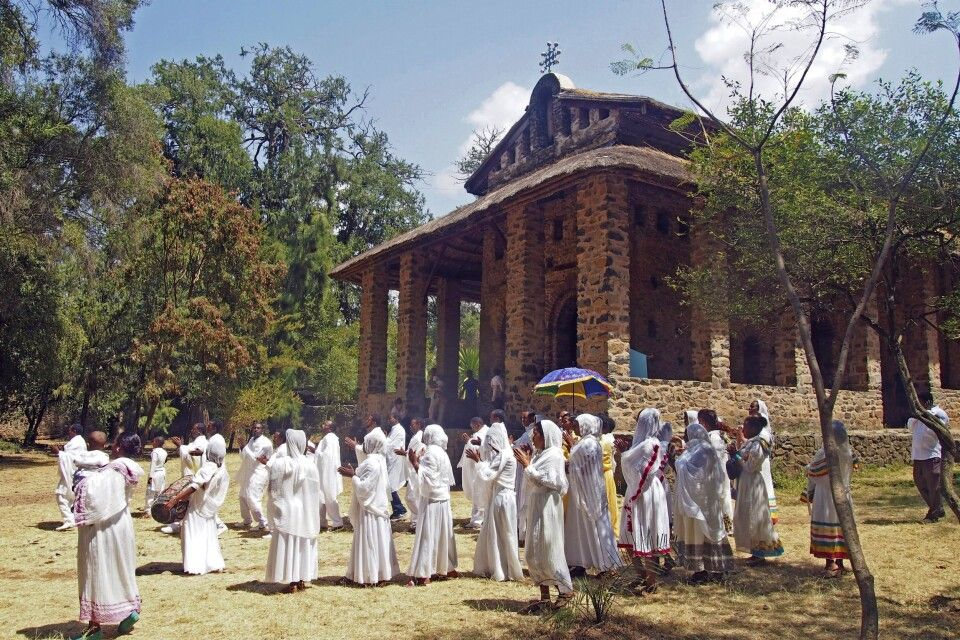 Prozession in Gondar