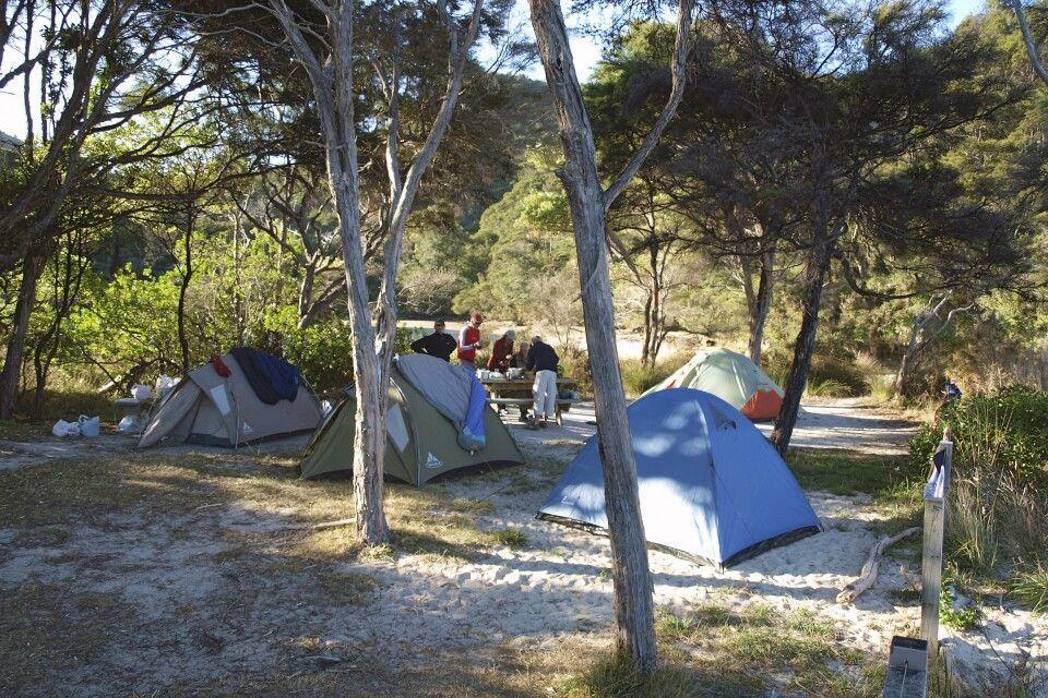 Zelten im Abel Tasman Park
