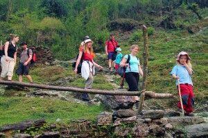 Trekkingweg bei Ghandruk