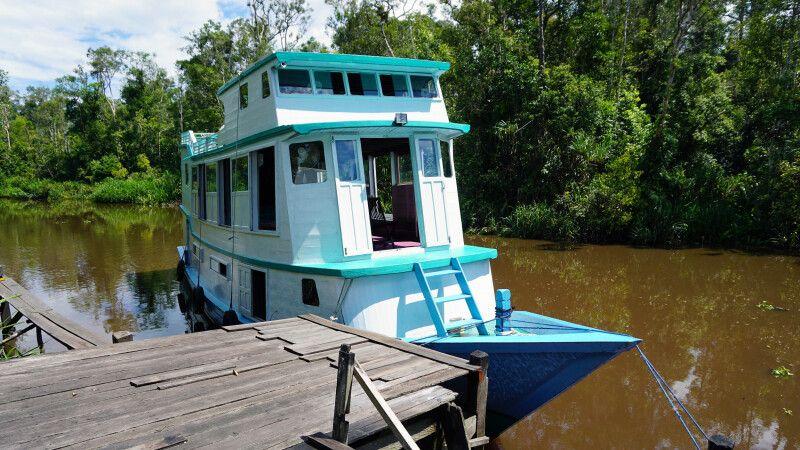 Flussboot – Klotok im Tanjung Puting NP © Diamir