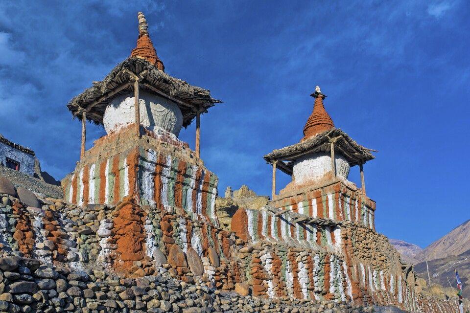 Chörten (Gebets- oder Reliquienschrein) in Tangge