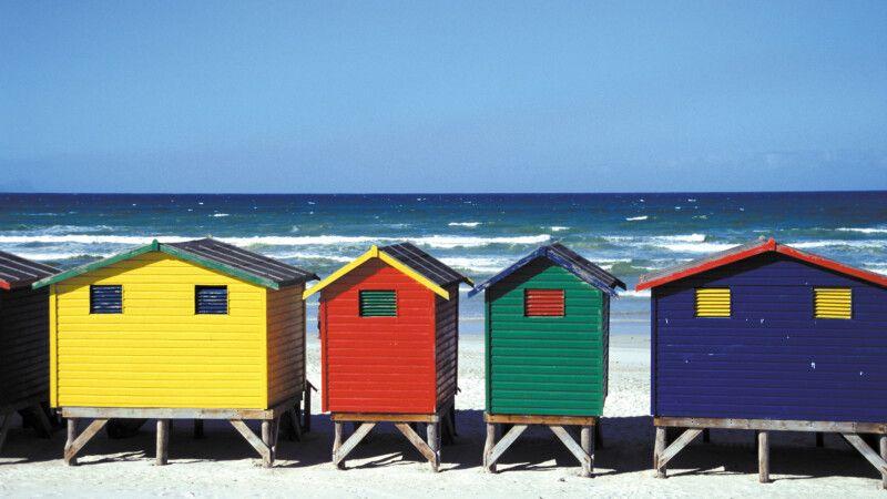Strandhäuschen bei Muizenberg, Kapstadt © Diamir
