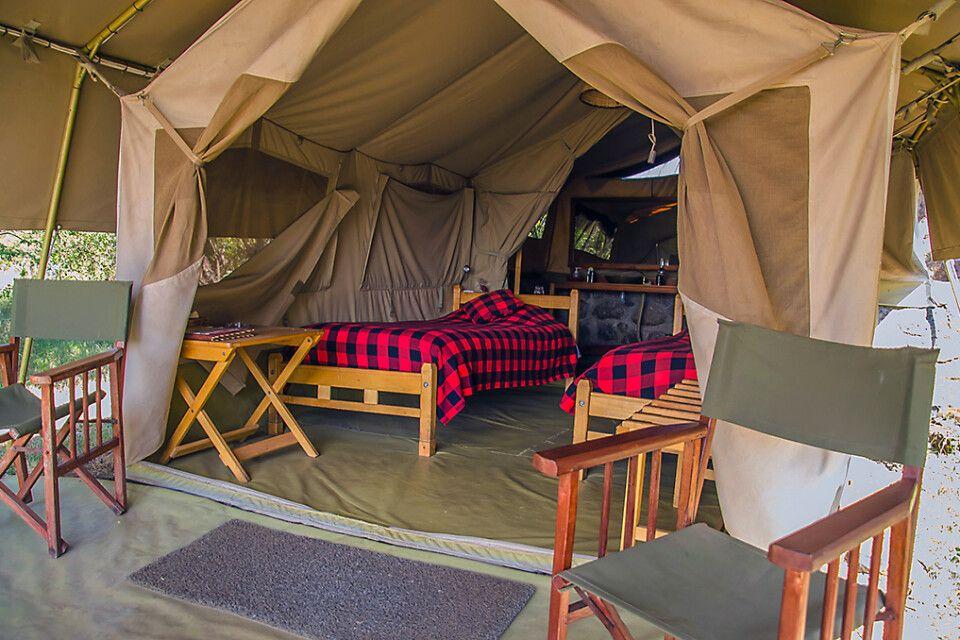 Zelt im Mara Siria Camp