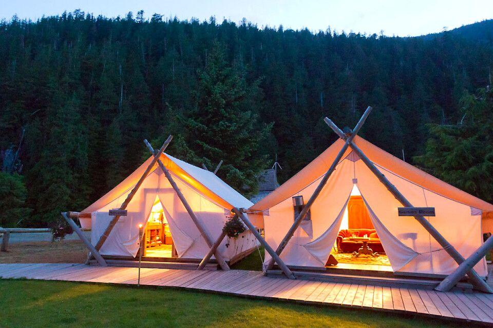 Hauszelte im Clayoquot Wilderness Resort