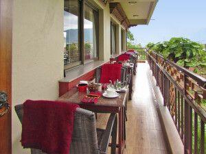 Frühstücksbalkon vom Kathmandu View Hotel