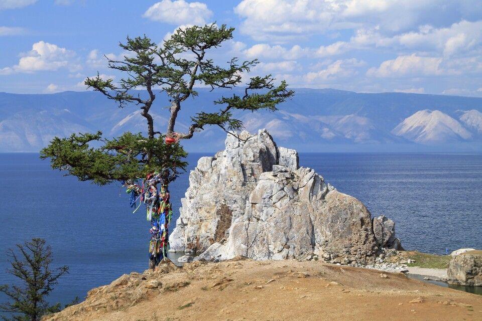 Baikal mit Schamanenfelsen