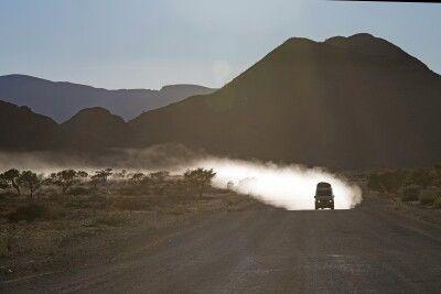 Fahrt durch die Namib