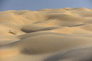 Wind, Sand und Weite: helle Sanddünen in der Rub al-Khali