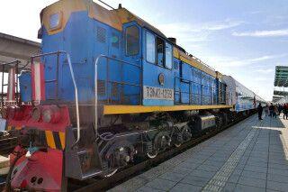 am Bahnhof Ulan Bator