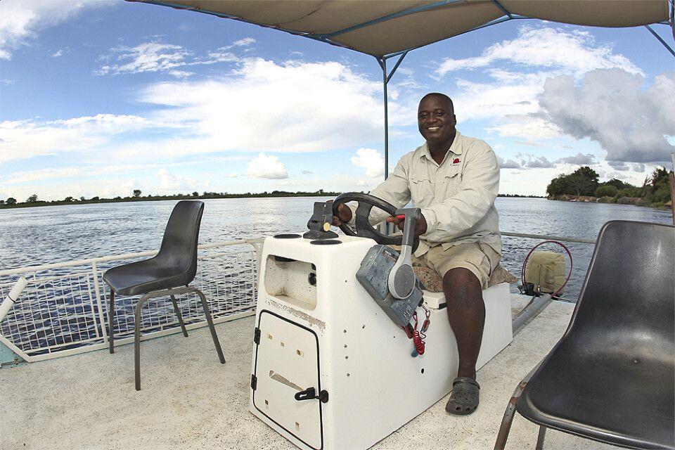 Auf einer Bootsafari im Caprivi-Streifen