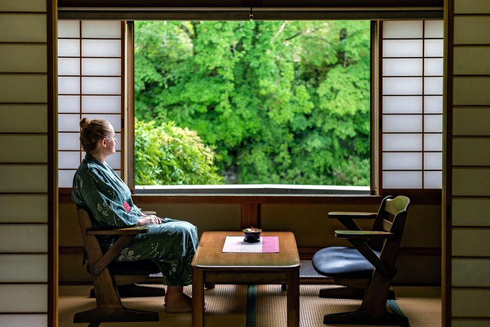 traditionell Übernachten im Ryokan