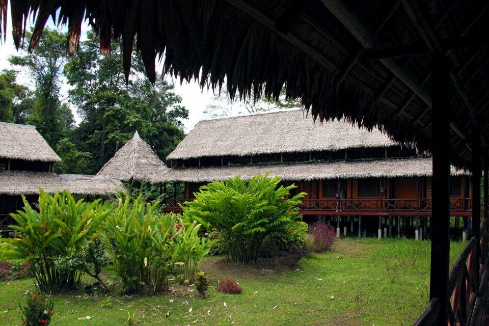 Gartenansicht der Heliconia Lodge