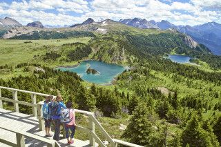 Ausblick von der Sunshine Mountain Lodge