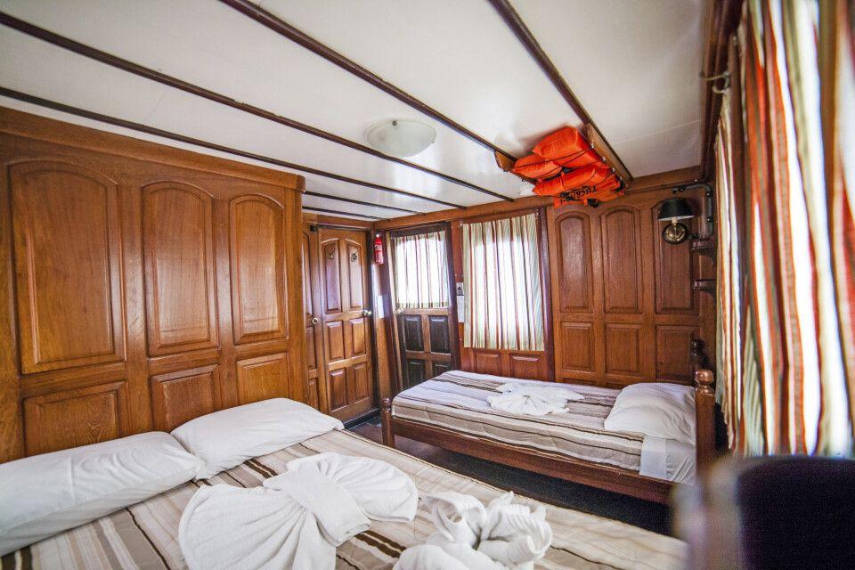Blick in eine Kabine des Schiffes