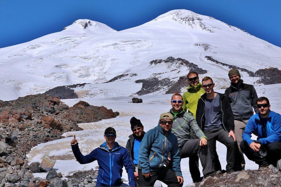 Gruppe am Elbrus
