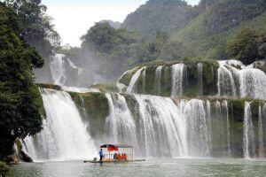 In der Nähe von Cao Bang befindet sich der Ban-Gioc-Wasserfall, einer der schönsten Vietnams