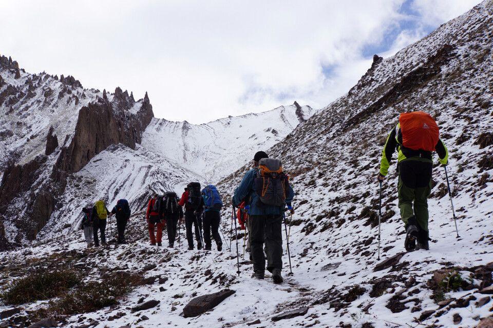 Aufstieg zum Stok-La 4875 m) - unsere erste große Hürde ist geschafft
