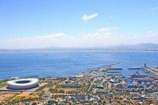 Blick auf das Station von Oben, Kapstadt