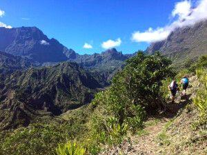 Wanderer auf der Strecke von Roche Plate nach Marla