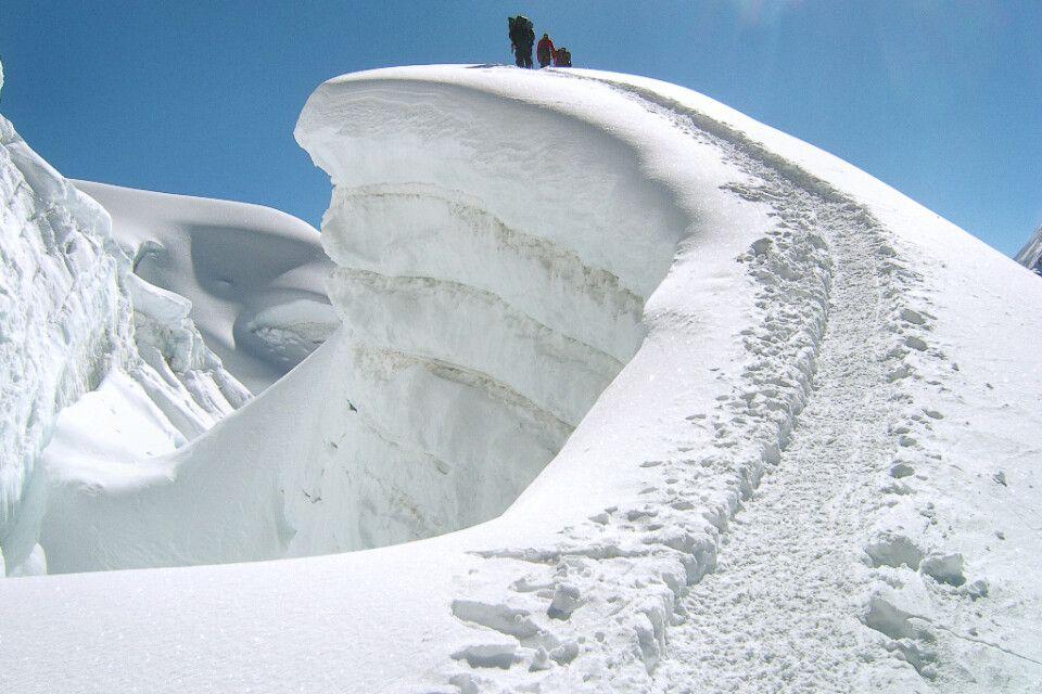 Abstieg vom Island Peak