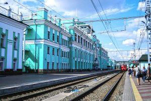 Bahnhof in Sibirien
