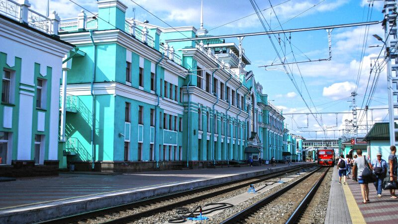 Bahnhof in Sibirien © Diamir