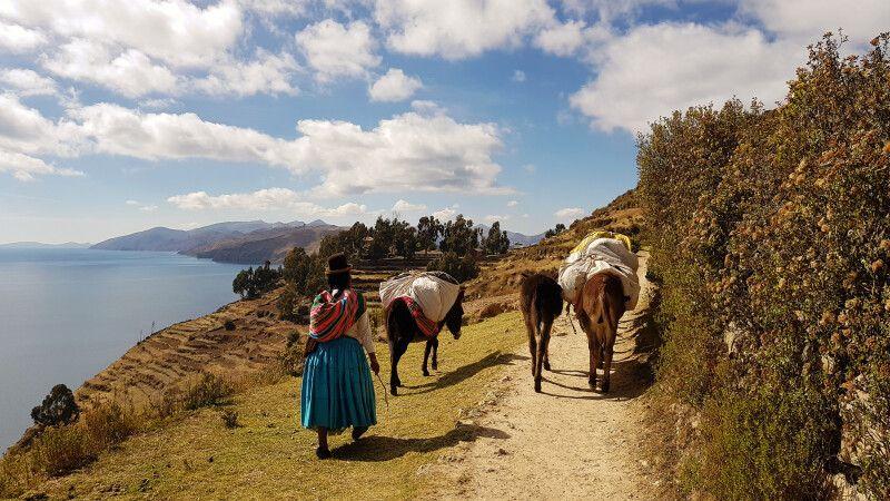 Unterwegs auf der Sonneninsel im Titicacasee © Diamir