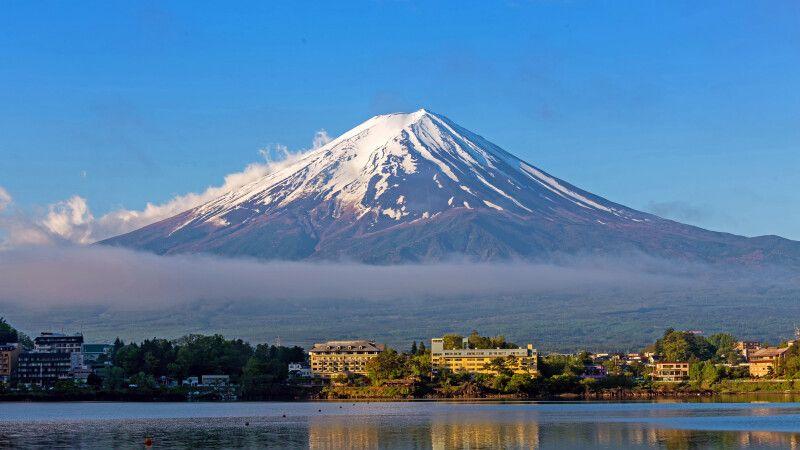 Blick von Kawaguchiko auf den Fuji-san © Diamir