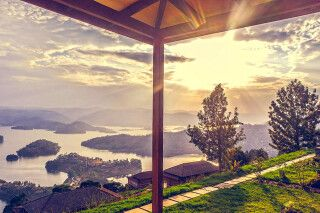 Arcadia Lodge Lake Bunyonyi - Blick zum See