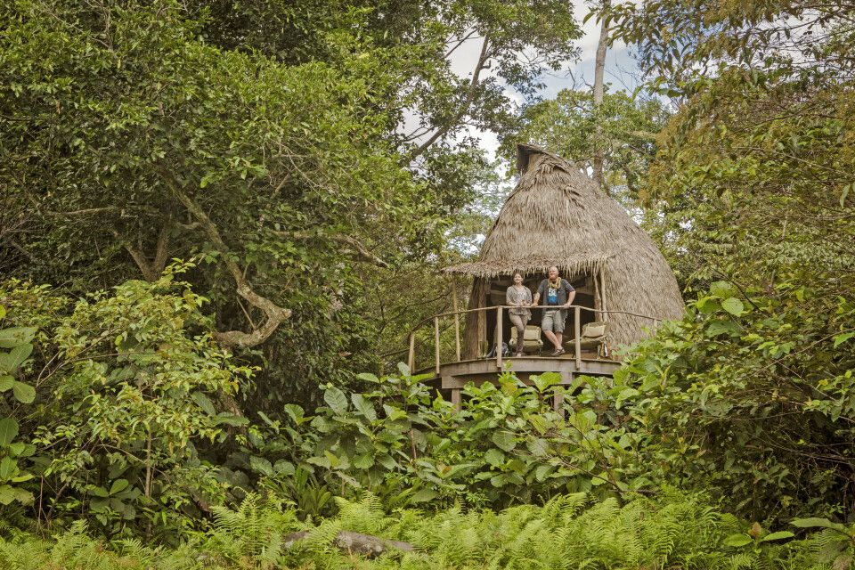 Lango Camp, Hütten eingebettet in die Natur